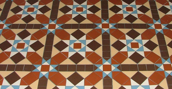 Victorian reproduction geometric tile pattern