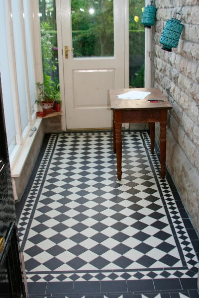 Dr Long Run Of Victorian Geometric Tiles Finished