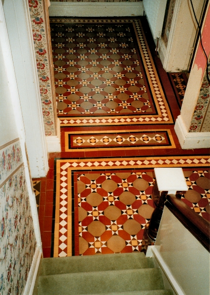 view-of-restored-victorian-geometric-floor-from-stairs-nr-wales